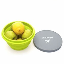 M Square Collapsible Food Grade Silicone Bowls with Lids, BPA-Free, Camp... - £10.15 GBP
