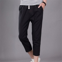 The new summer mens pants men loose linen pants casual pants image 8
