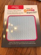 Playtex Baby Diaper Genie Expressions Designer Fabric Sleeve Blue Knit - $14.88