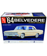 Skill 2 Model Kit 1964 Plymouth Belvedere Coupe Hardtop 1/25 Scale Model... - $54.94