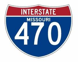 Interstate 470 Sticker R2065 Missouri Highway Sign Road Sign - $1.45+