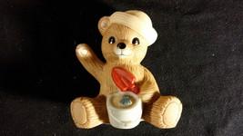 """Summer Teddy Bear Porcelain Figurine """"Beach Sand Bear"""" HOMCO - $10.00"""