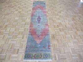2'2 x 10'4 Runner Hand Knotted Pink Turkish Oushak Ushak Oriental Rug G6353 - $444.15