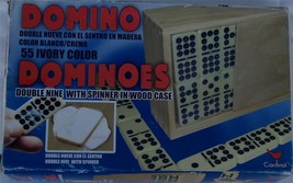 Cardinal Industries Dominoes - Double Nine with Spinner in Wood Case - B... - €18,65 EUR