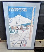 Outstanding Framed Matted Poster, Crested Butte CO Alley Loop NORDIC SKI... - $83.22