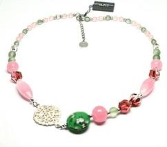 Necklace Antica Murrina Venezia with Murano Glass Fuchsia & Pink COB39A08 - $72.95