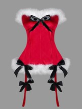 Christmas Plus Size Faux Fur Bowknot Embellished(RED 3XL) - $18.35