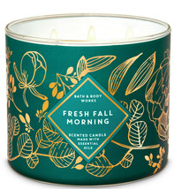 Bath & Body Works Fresh Fall Morning Three Wick.14.5 Ounces Scented Candle - $22.49