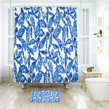 Flower Lilly Falling In Love Shower Curtain Waterproof & Bath Mat For Bathroom - $15.30+