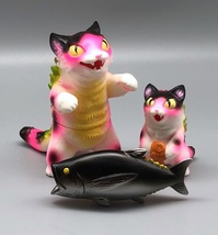 Max Toy Hot Pink Spotted Negora and Micro Negora w/ Fish - Rare image 2