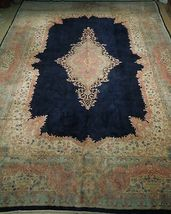 11x17 Navy Blue Handmade Open Field Durable Fine Original Persian Rug image 3