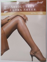 Hanes Absolutely Ultra Sheer Control Top Reinforced Toe Barely There Size F - $7.24