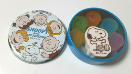 PEANUTS SNOOPY Eraser Canned With Can Snoopy and Friends Cute Old Rare - $23.36