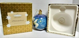 2004 Hallmark Keepsake A Wish For Peace Glass Club Exclusive Ornament QX... - $50.00