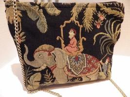 Vintage Doodle Bags Tapestry Hand Bag Shoulder Elephant Stuart FLA Chain... - $24.70
