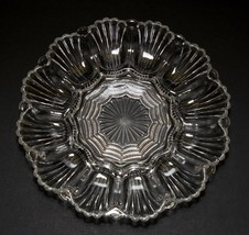 Deviled Egg Plate Dish Clear Glass 12 Eggs Vintage - $9.41