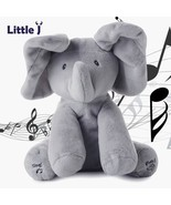 Peek a boo Elephant Plush Toy Electronic Flappy Elephant Play Hide And S... - $27.99