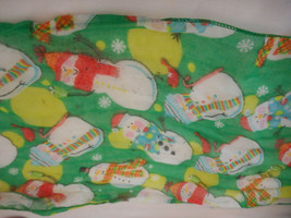 Snowman winter Holiday green scarf  - $9.89