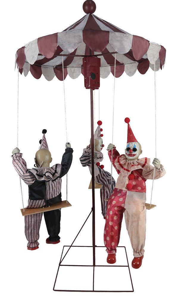 Clown Go-Round Animated Prop Halloween Haunted House Decoration