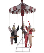 Clown Go-Round Animated Prop Halloween Haunted House Decoration  - $179.79