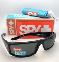 New SPY OPTIC Sunglasses COOPER Shiny Black Frames with Happy Grey Green... - $99.95