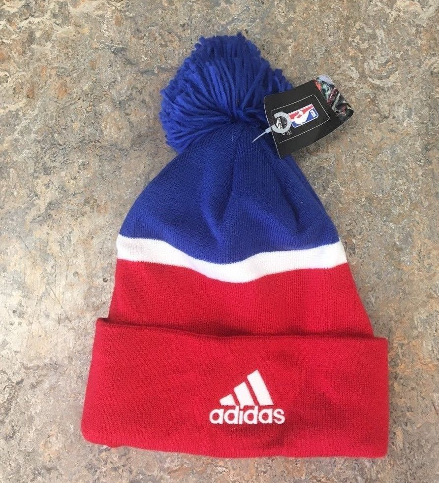 256db1d791d28 ... NWT New Los Angeles Clippers Adidas Cuffed Pom Beanie Hat Cap