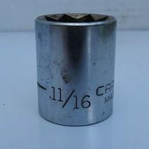 """Vintage Craftsman 11/16"""" Socket, V Series, #44225 8 Point Star 1/2ʺ Drive - $11.75"""