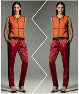 Narciso Rodriguez For DesigNation Orange Paisley Pajama Pants - Size Ext... - $24.95