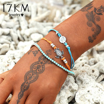 17KM® 3 pcs/set Bohemian OM Turtle Bracelets For Women Contrast Multiple... - $4.87