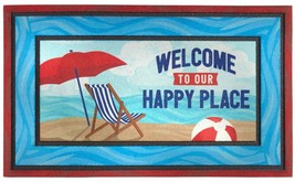 """HEAVY COIR DOORMAT OUT/INDOOR (18"""" x 30"""") WELCOME TO OUR HAPPY PLACE, sp - $9.89"""