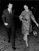 Vintage photo of Alfonso, Duke of Anjou and Cádiz walking with a woman. - $9.41