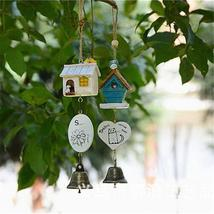 Ornaments Bird House Cage Home Ornament Wind Chimes Baby Children Gift P... - $14.69