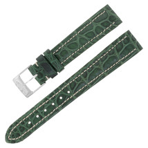 Breitling 903P 16-14mm Alligator Leather Green Ladies Watch Band w. Buckle - $299.00