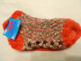 Girls Slipper Socks Shoe 2-6 M/L Anklet Red Green White Multi Children - $5.99