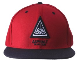 Asphalt Yacht Club Mens Triangle Eye Snapback Baseball Hat Cap NWT