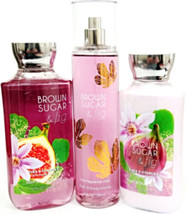 Bath and Body Works Brown Sugar & Fig Gift Set of 3 Body Lotion, Mist, B... - £24.27 GBP