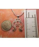 "Alpha Omega Necklace Charm Pendant (28"") - $42.56"