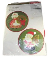 Bernat Crewel Embroidery Kit - Holiday Hoops Mrs & Mr Claus - $45.99