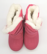 Cat & Jack Toddler Girls Fuchsia Pink Lev Faux Fur Insulted Winter Snow Boots image 5