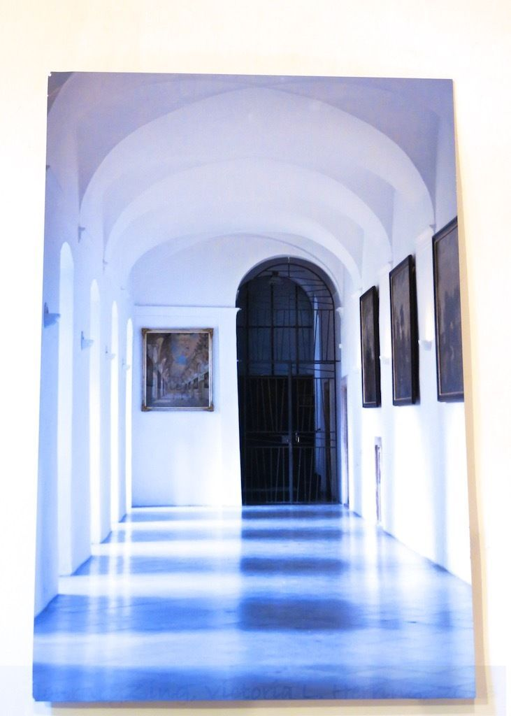 Fine Art Photographic Image: Corridor in Prague, Metal Print