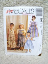 McCall's #8071 Uncut Sewing Pattern (Sz 2,3,4), Children's/Girl's Jumpr/... - $4.49