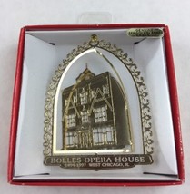 Nations Treasures Bolles Opera House Illinois Brass Metal Souvenir Ornament - $15.00