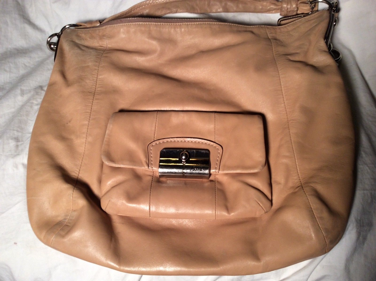 06ec8eb7715d Coach Tan Leather Tote Shoulder Purse and 50 similar items. 57
