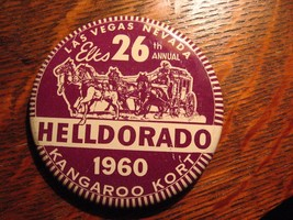 Elks Club Vintage Lapel Pin - 1960 Las Vegas Nevada USA HellDorado Kanga... - $19.79