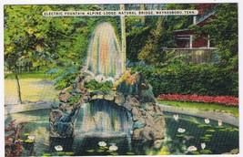 Tennessee Postcard Waynesboro Electric Fountain Alpine Lodge Natural Bridge - $2.22