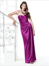 Dessy 2820....Full length, Strapless, Satin Dress.......Persian Plum....... - $69.29