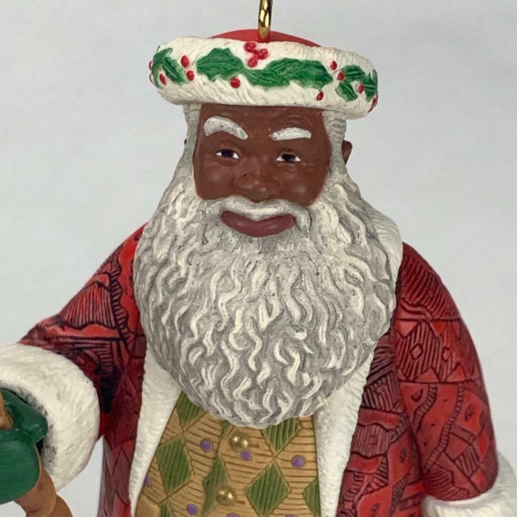 Hallmark Keepsake Ornament Joyful Santa Collectors Series 1999 Vintage