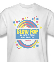 Blow Pop Cherry Filled Bubble Gum Pop Retro 80's Candy Cotton Graphic Tee TR103 image 2