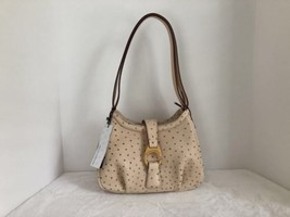 Dooney & Bourke Derby Ostrich Collection Shoulder Bag Color-cream - $136.95