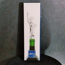 "MIKASA ""LIBERTY"" Statue of Liberty Clear Lead Crystal Bottle Stopper NIB... - $25.64"